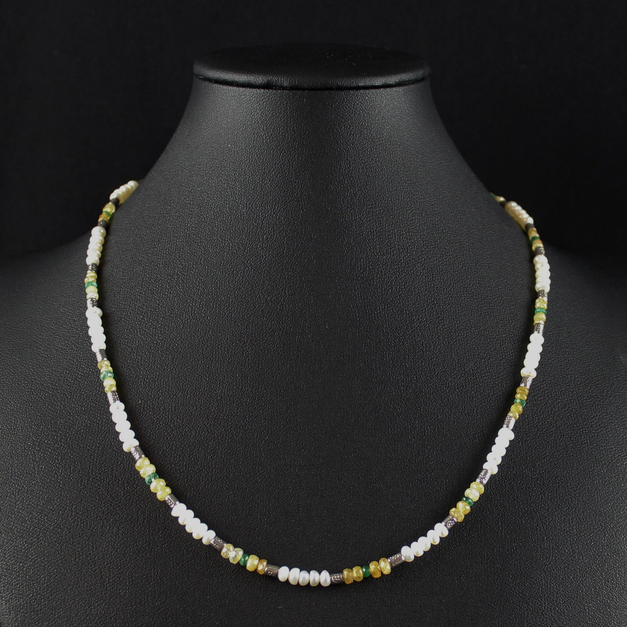 Susan M - Multi Gemstone & Pearl Necklace