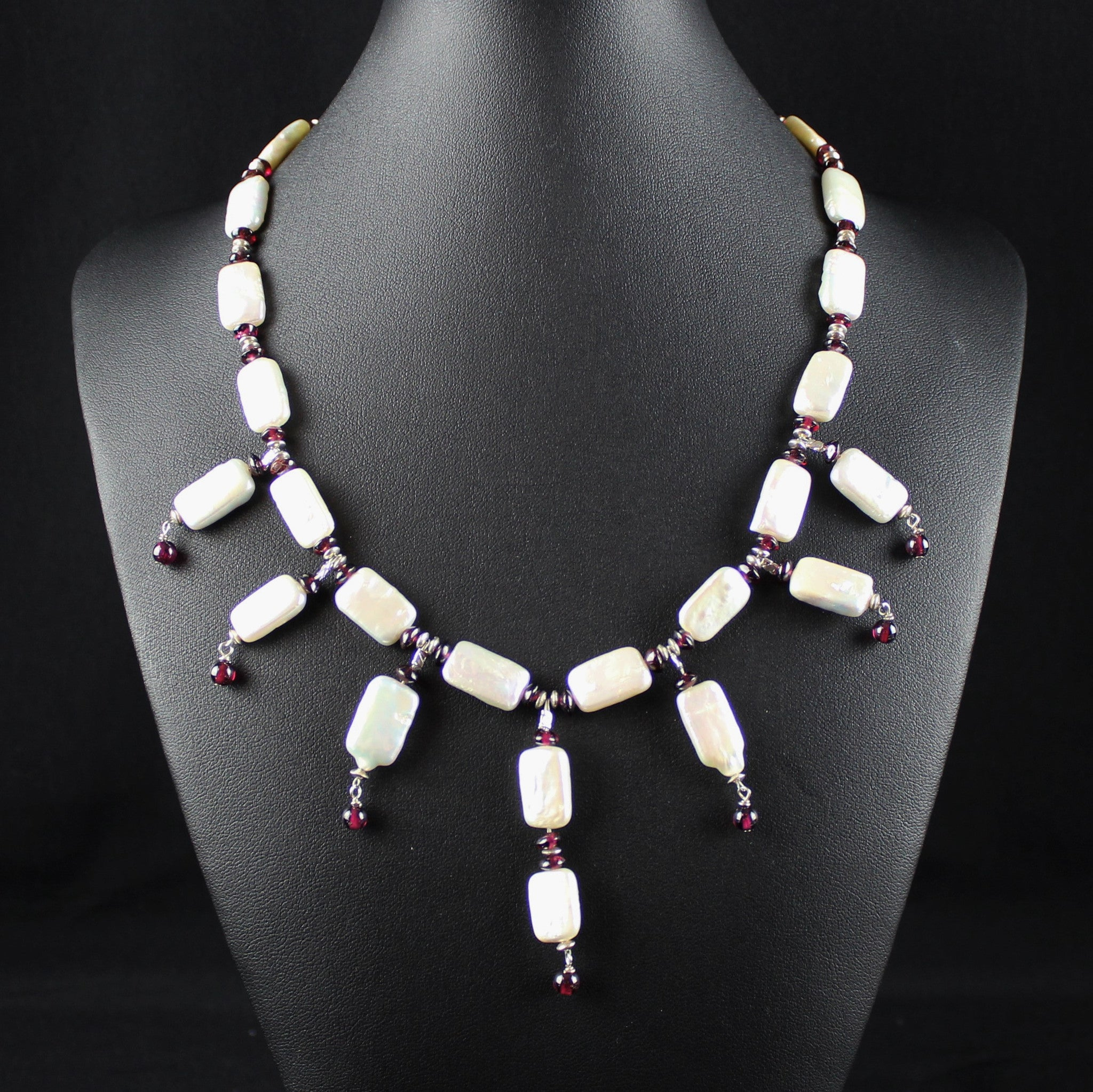 Susan M - Pearl & Garnet Necklace