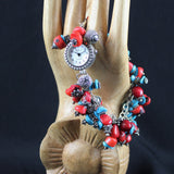 Susan M -  Red and Blue Bracelet watch