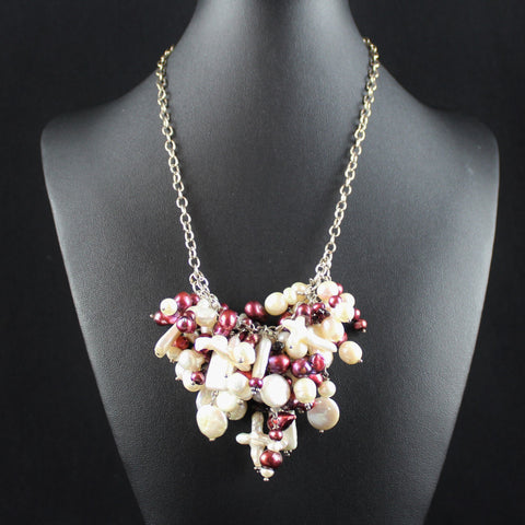 Susan M - Freshwater Pearls on Sterling Silver Necklace