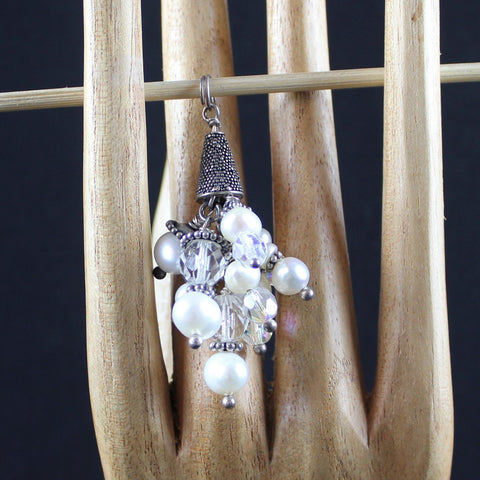 Susan M - Pearl and Crystal Pendant