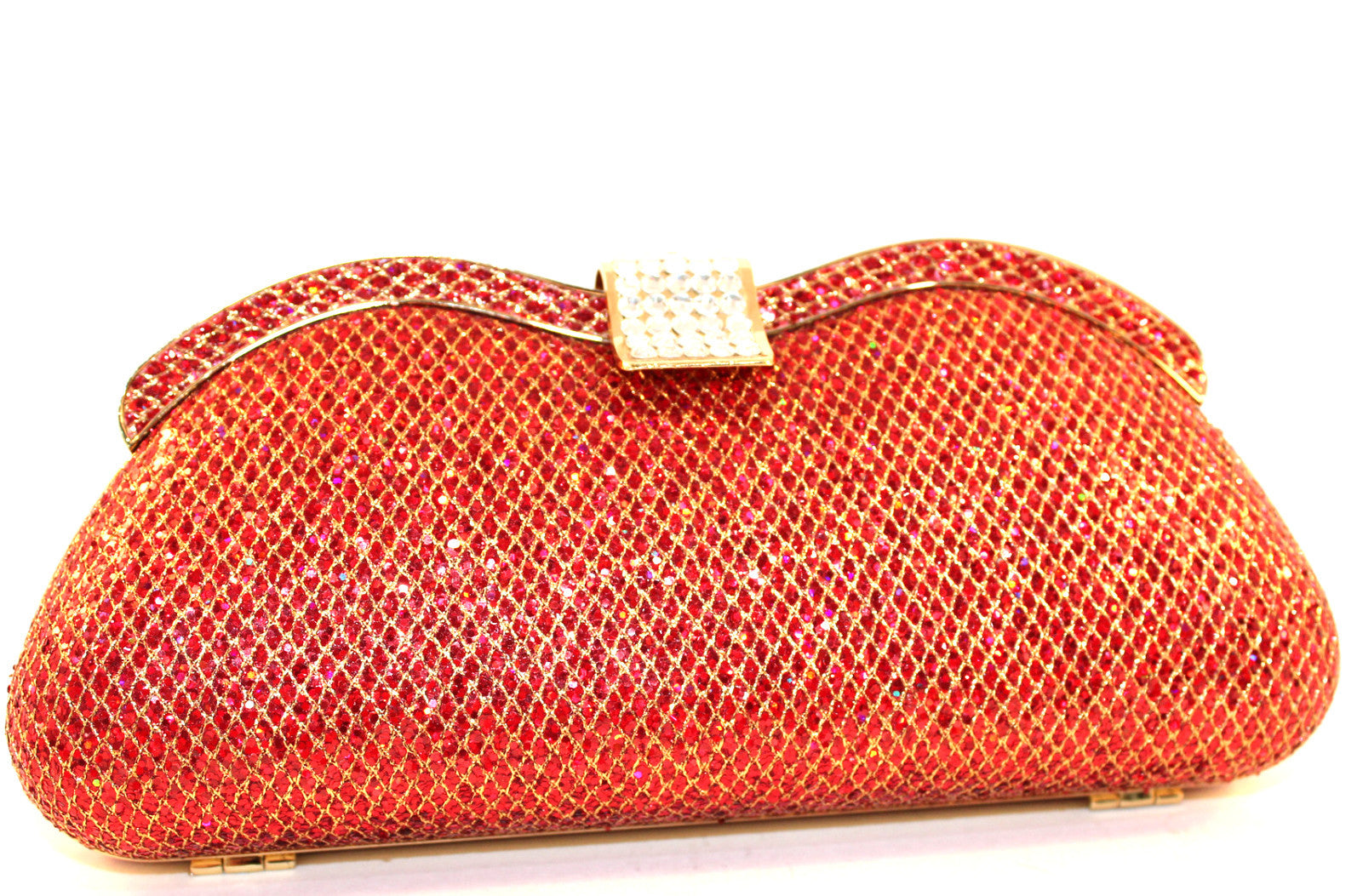Red Glitter Clutch Bag