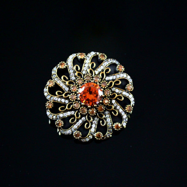 Topaz Turkish Brooch