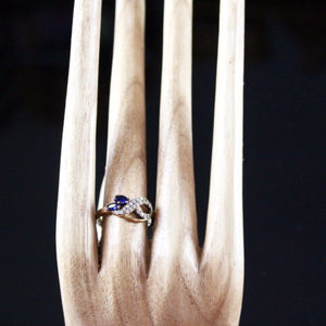 Delicate Turkish Sapphire and Topaz Ring