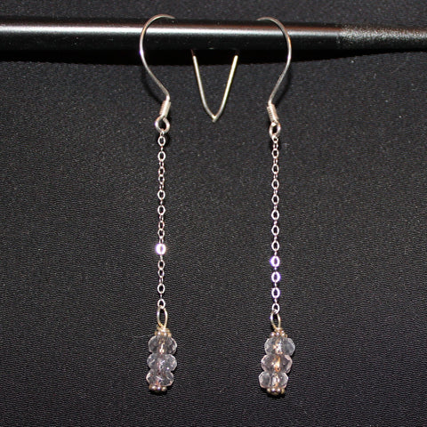 Susan M - Rose Quartz Earrings