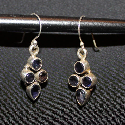 Lolite & Sterling Silver Earrings