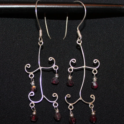 Susan M - Sterling Silver Dangle Earrings