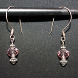 Susan M - Bali Silver & Crystal Earrings