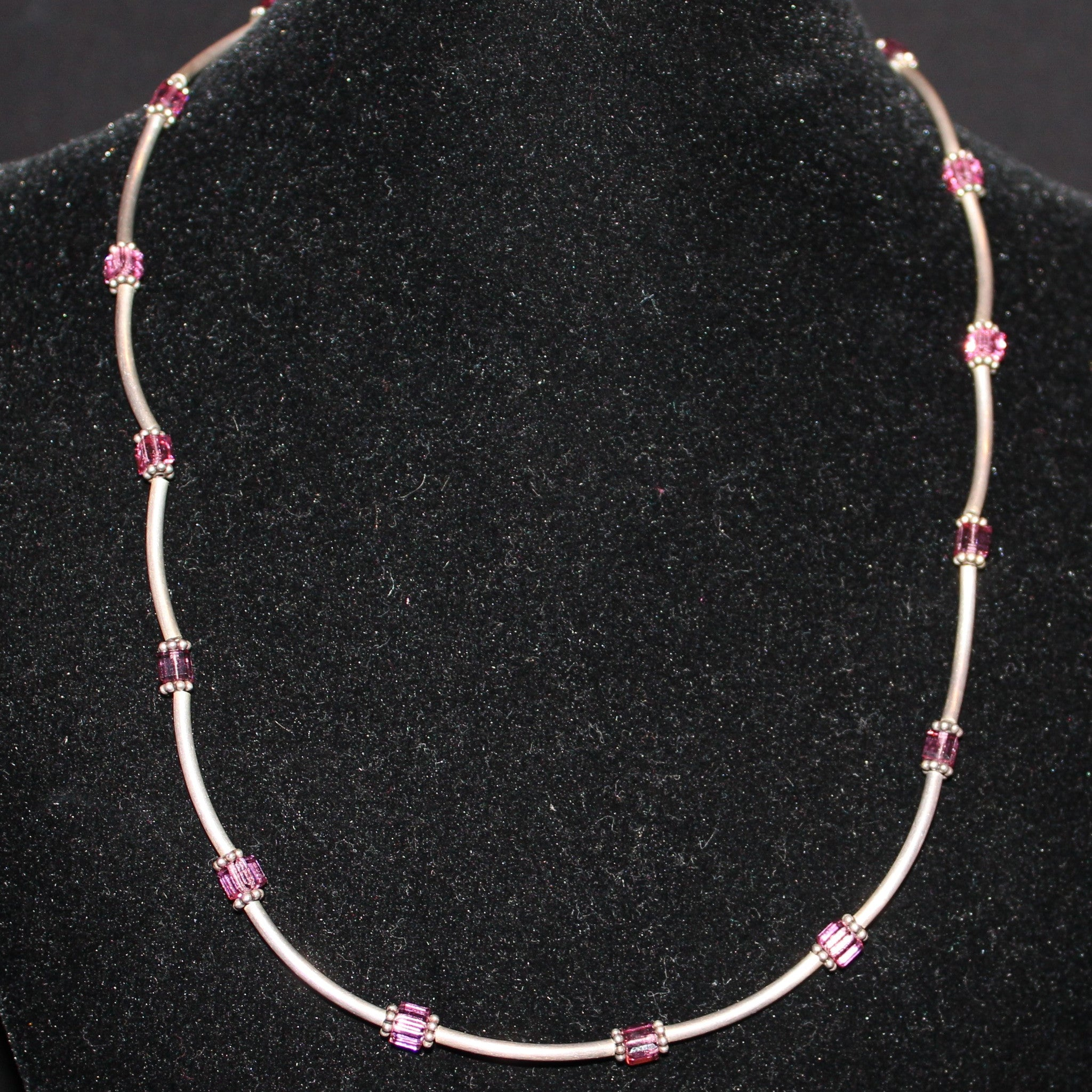 Susan M - Swarovski crystal and sterling silver necklace