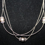 Susan M - Tahitian Pearls & Silver Necklace