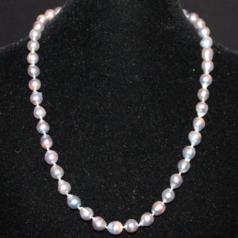 Blue/Grey Baroque South Sea Pearl Necklace