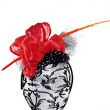 Orange Polka Fascinator