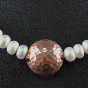 Susan M - Pearl and Rose Gold Necklace