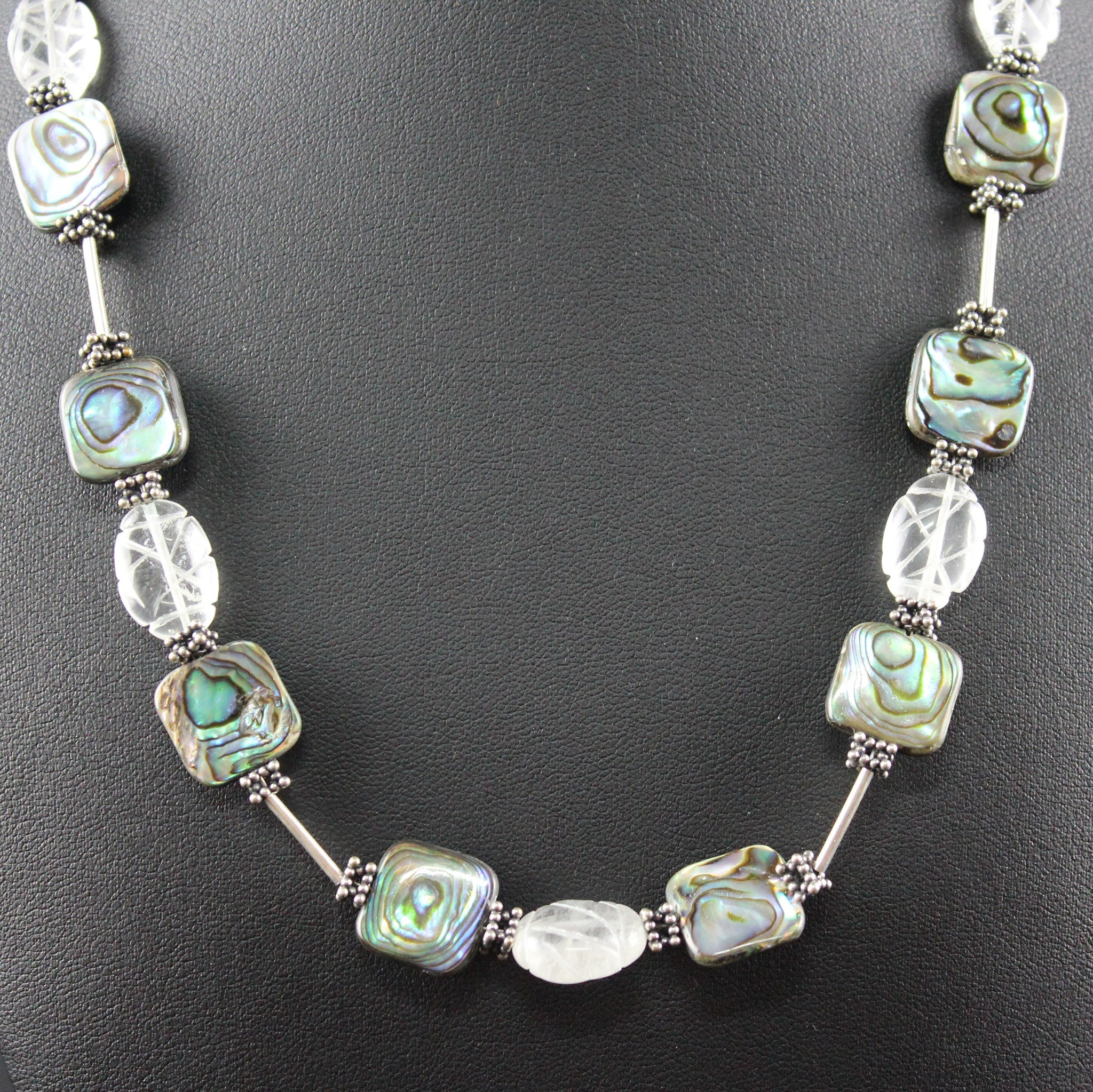 Susan M - Topaz and Paua Shell Necklace