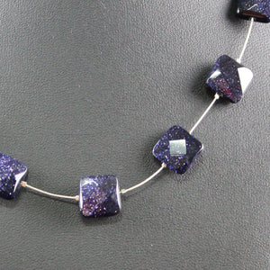 Susan M - Floating Midnight Goldstone necklace