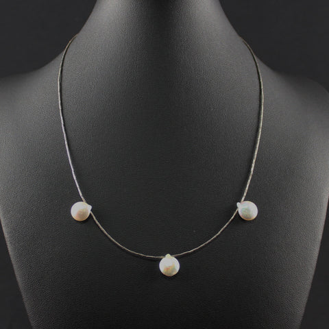 Susan M - Pearl and silver Necklace