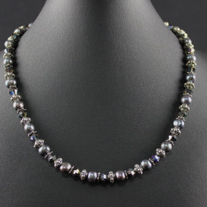 Susan M - Pearl and Bali silver necklace