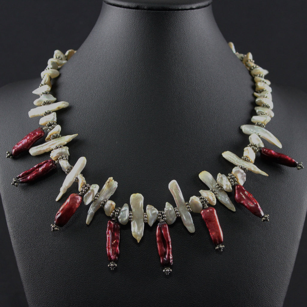 Susan M - Pearl Stick Necklace