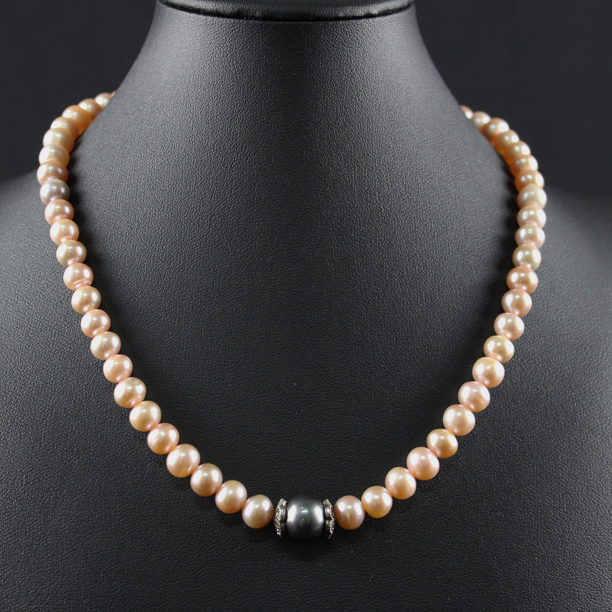 Susan M - Pink Pearl Necklace