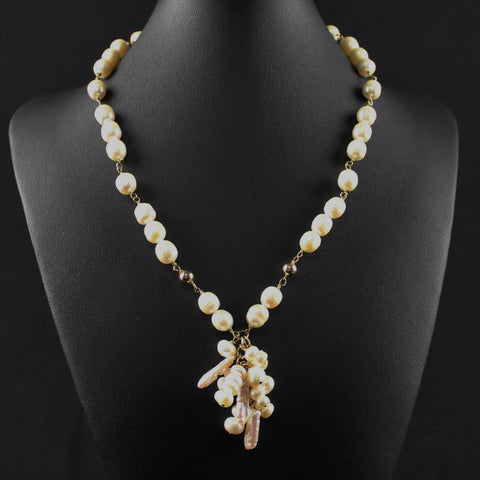 Susan M - Wired Freshwater Pearl Necklace