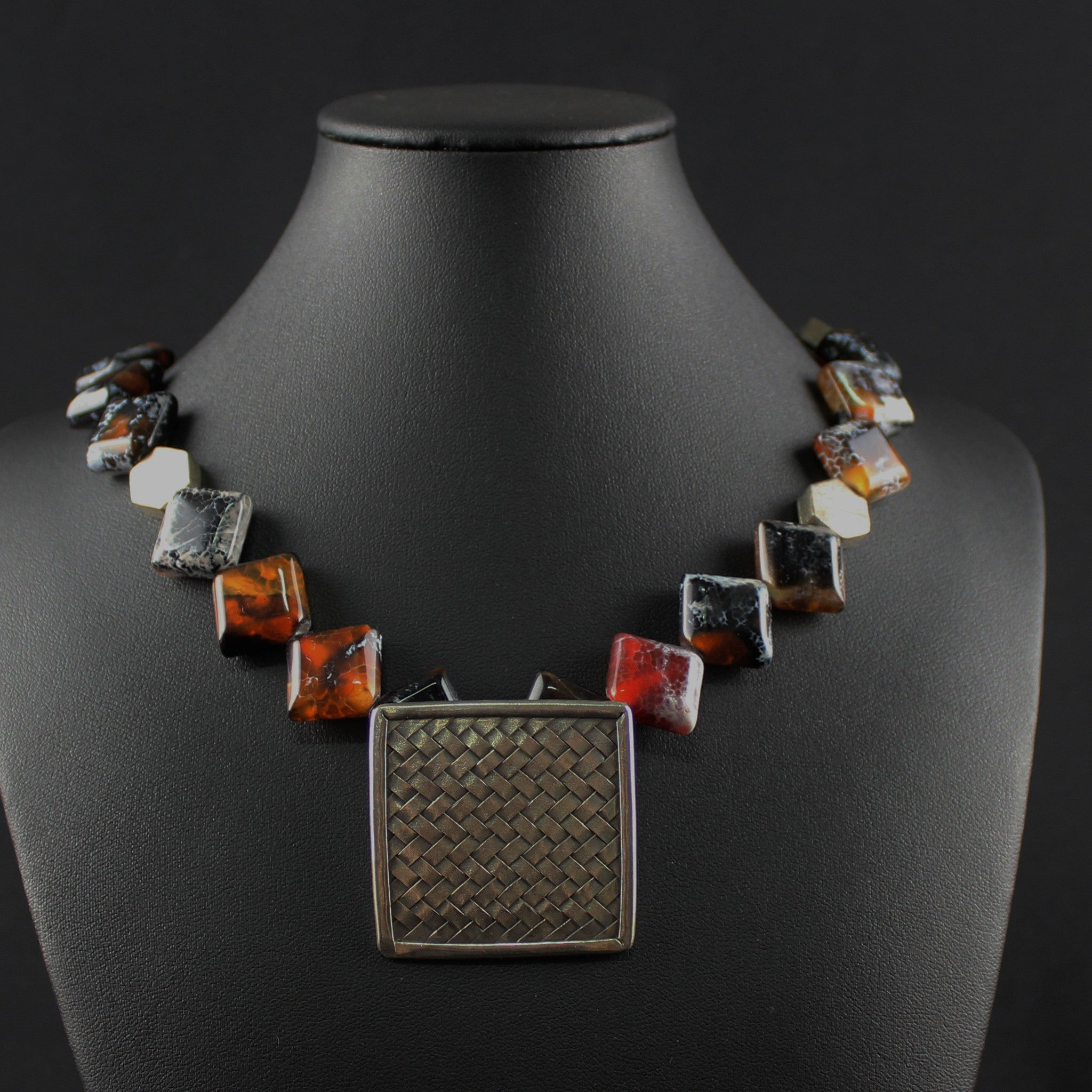 Susan M - Agate and Thai silver Necklace