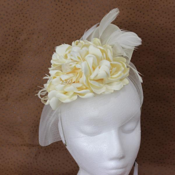 Cream Bridal Fascinator