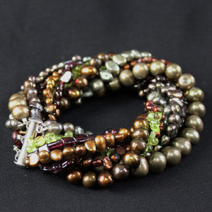 Susan M - Pearl and Gemstone Bracelet