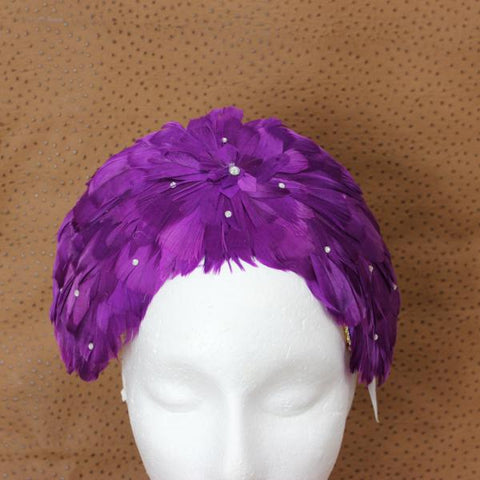 Purple Birdy Headpiece Fascinator