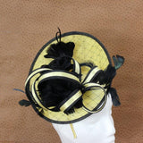 Black and Yellow Fascinator