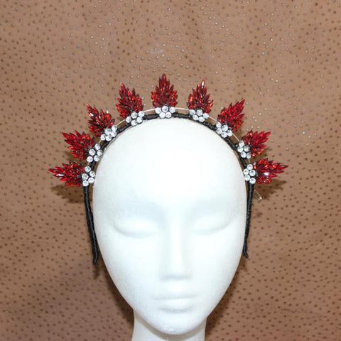 Flame Crown Fascinator