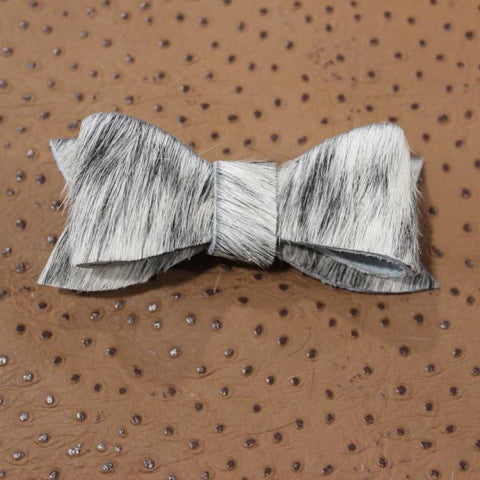 Leather hair bows