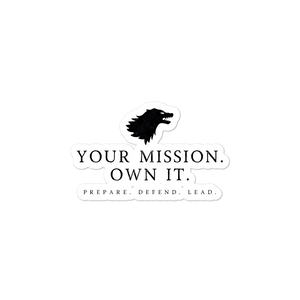 Your Mission Wolf sticker