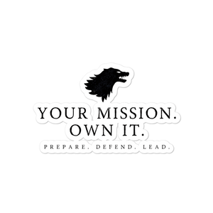 Open image in slideshow, Your Mission Wolf sticker