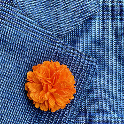 Lapel pin blomma - orange