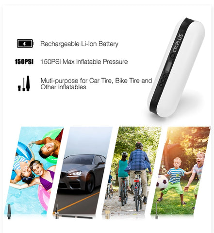 usb rechargeable portable air inflator