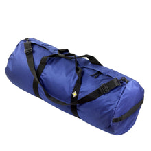 Load image into Gallery viewer, Studio photo the Pacific Blue SD1640DLX Standard Duffle by Northstar Bags. 131 liter duffel with diamond ripstop fabric, thick webbing straps, and a large format metal zipper. Guaranteed for life.