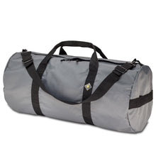 Load image into Gallery viewer, Studio photo the Steel Grey SD1430DLX Standard Duffle by Northstar Bags. 75 liter duffel with diamond ripstop fabric, thick webbing straps, and a large format metal zipper. Guaranteed for life.