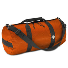 Load image into Gallery viewer, Studio photo the International Orange SD1224DLX Standard Duffle by Northstar Bags. 44 liter duffel with diamond ripstop fabric, thick webbing straps, and a large format metal zipper. Guaranteed for life.