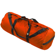 Load image into Gallery viewer, Studio photo the International Orange SD1640DLX Standard Duffle by Northstar Bags. 131 liter duffel with diamond ripstop fabric, thick webbing straps, and a large format metal zipper. Guaranteed for life.