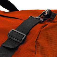 Load image into Gallery viewer, Studio photo the International Orange SD1430DLX Standard Duffle by Northstar Bags. 75 liter duffel with diamond ripstop fabric, thick webbing straps, and a large format metal zipper. Guaranteed for life.