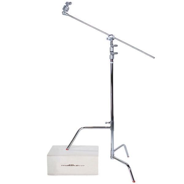 "Matthews Hollywood 40"" C-Stand Double Riser Sliding Leg, w/ Grip Head and 40"" Arm - 10.5' (3.2m)"