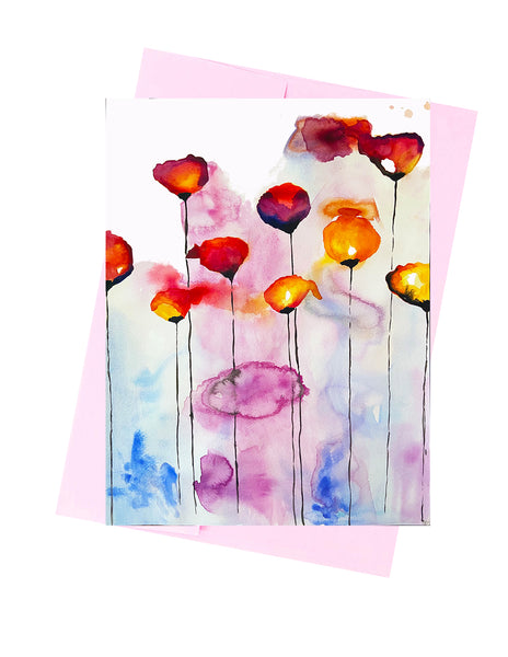 Colorful Poppy Abstract