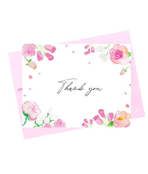 Thank you Pink Floral