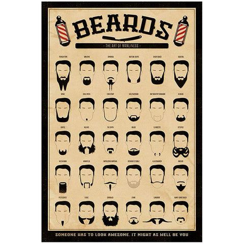 "Plakat ""Beards"""