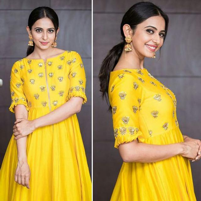 Festive Wear Yellow Color Embroidered Suit