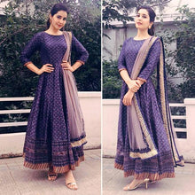 Load image into Gallery viewer, Purple Colored Printed Festive Wear Salwar Suit