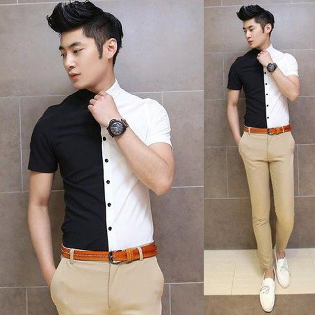 Buy shirt - Black & White Color Fancy Casual Shirt