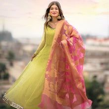 Load image into Gallery viewer, Light Green Color Anarkali Dress