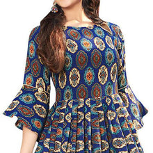 Load image into Gallery viewer, Festive Wear Multi Color Long Kurti