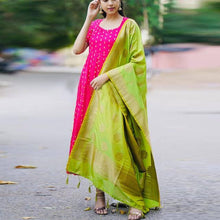 Load image into Gallery viewer, Embroidered Rani Pink Color Designer Suit